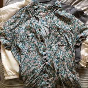 Vintage American Apparel Button Up Tee